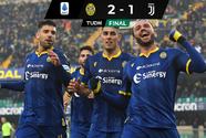 ¡Cayó la Juventus! Hellas Verona remontó con gol de Pazzini