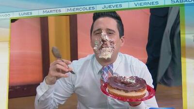 ¡Rompió la dieta! Alejandro ganó el reto de los pasteles