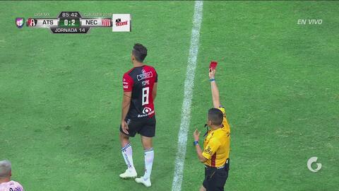 ¡Berrinche y roja directa! Andrés Andrade se gana la expulsión