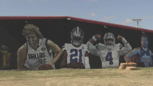 Pintan un mural en Grand Prairie en honor a cuatro estrellas deportivas del norte de Texas