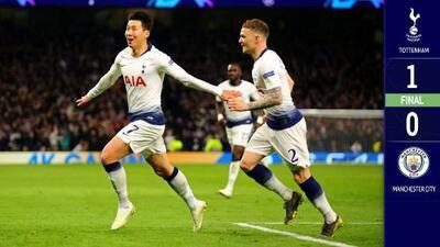 Con un polémico gol de Son, Tottenham derrotó al Manchester City