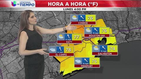 Cielos parcialmente nublados y condiciones cálidas para este lunes en Houston