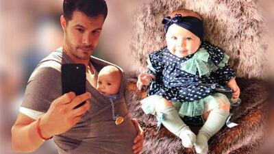 """""""No seas mentirosa"""" le advierte Brandon Peniche a su hija Alessia... de solo 5 meses"""