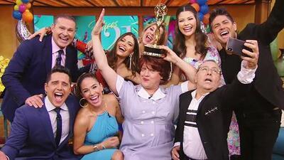 Doña Meche llegó presumiendo su propio Emmy, y quiso compartirlo con todos en Despierta América