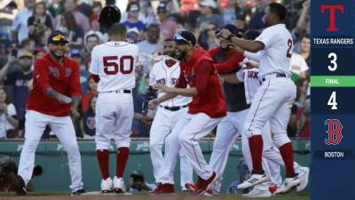 Con base por bolas de Mookie Betts Boston deja en el terreno a Texas
