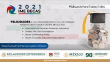El Consulado de México anuncia las organizaciones que recibirán las becas del IME