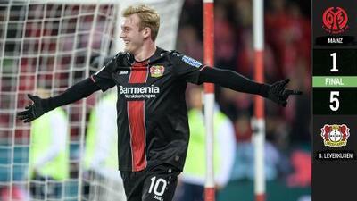 El nuevo crack alemán, señores: Brandt se luce en triunfo del Bayer Leverkusen