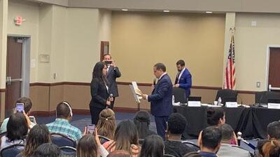 Ella es Karla García, la latina más joven en hacer parte de la mesa directiva del Distrito 4 de Dallas