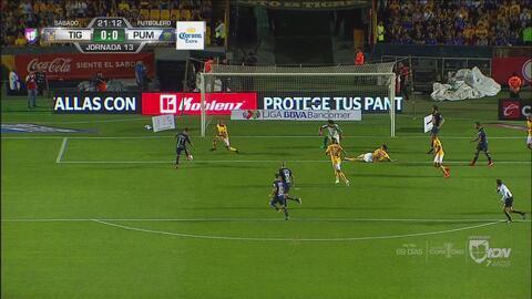 ¡Mal y de malas! Martín Rodríguez falló el 1-0 de Pumas con el arco abierto