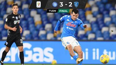 Golazo y asistencia... Chucky encaminó el pase de Napoli en Coppa