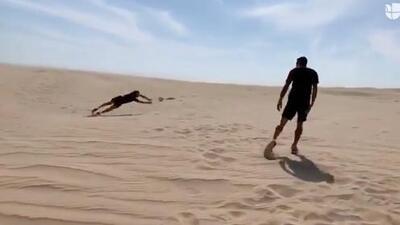 Gianluigi Buffon deleitó con una espectacular atajada en el desierto de Catar