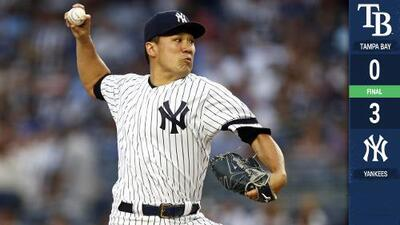 Tanaka se luce ponchando a 10 y Yankees blanquean a Rays