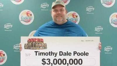 Depredador sexual gana  $3 millones en la Lotería de Florida