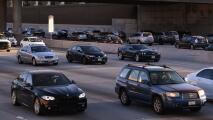 Se registra congestión vehicular por accidente sobre la I-210 de Los Ángeles en la mañana de este viernes