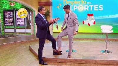 Mira por qué Alan Tacher le regaló un par de calcetines a Rodolfo Landeros