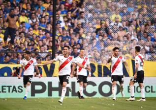 En fotos: River Plate no perdonó en La Bombonera y venció con claridad a Boca Juniors