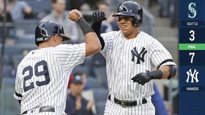 Ofensiva de los Yankees explota temprano para vencer a los Mariners