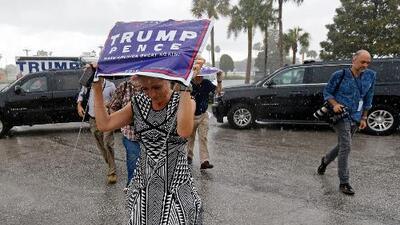 El 'nuevo Trump' celebra en Tampa uno de sus mítines más desolados