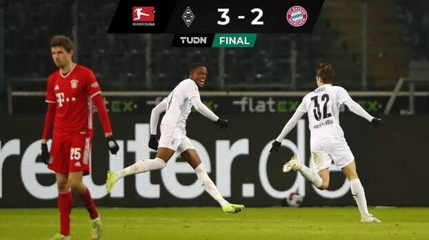 Peligra el liderato del Bayern tras caer ante el Monchengladbach