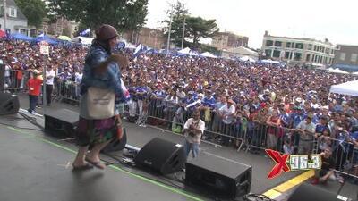 La X presente en el festival Salvadoreño y en el Festival latino de Newark