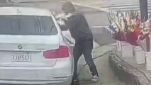 En video: Un vendedor denuncia que una mujer le robó cuatro ramos de flores y que casi le pasa el auto por encima