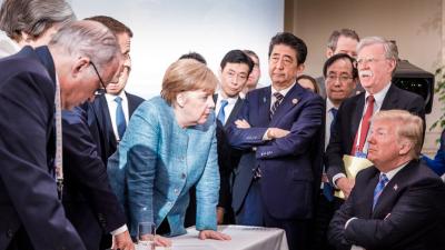 El segundo año de la presidencia de Trump en 20 fotografías de encuentros y desencuentros
