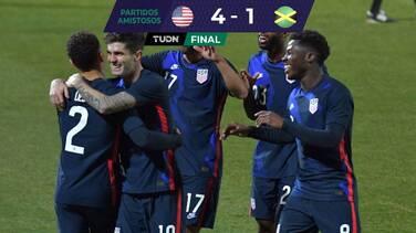 En amistoso, Estados Unidos goleó y gustó ante Jamaica