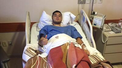 Israel Jiménez fue operado con éxito de una de sus rodillas
