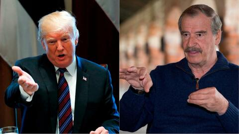 """Está totalmente fuera de la realidad actual"", dice Vicente Fox sobre Donald Trump"