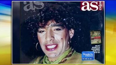 Imagen de Maradona como mujer causa revuelo