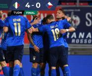 ¡Feria de goles! Italia no se guarda nada y humilla 4-0 a República Checa