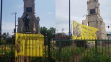 La ciudad de Chicago retira la última estatua restante de Cristóbal Colón en la ciudad