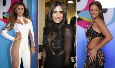 Ellas lucieron su piel con estas transparencias en la alfombra de Premios Juventud 2017