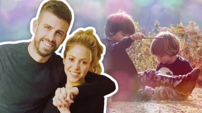 Shakira ya tiene clones: sus hijos Milan y Sasha (que son rockeros)