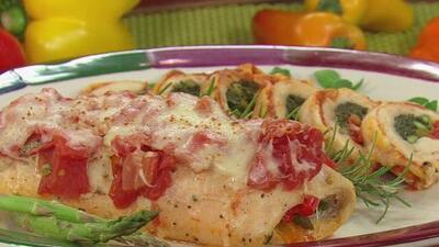 Comienza tu semana con este delicioso Pollo relleno de Verduras