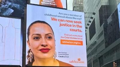 Lanzan campaña en Times Square para instar a víctimas de abuso a denunciar