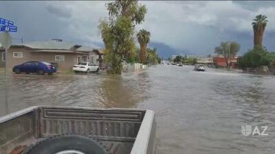 Alerta de inundaciones en Arizona tras el paso de la tormenta tropical Rosa por el Pacífico mexicano