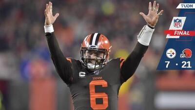 Browns suma su cuarto triunfo sobre Steelers