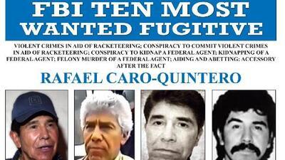 FBI incluye al narcotraficante mexicano Rafael Caro Quintero en la lista de los 10 prófugos más buscados