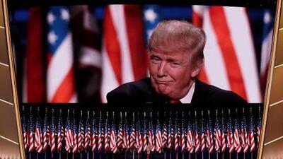 El discurso de Trump fue más visto en televisión que el de Clinton durante las convenciones