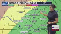 Posibilidad de fuertes lluvias y tormentas severas para el centro de Texas esta semana