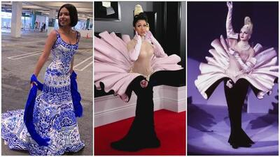 Los mejor y peor vestidos en los GRAMMY: Ángela Aguilar fue todo un espectáculo y Cardi B usó una réplica