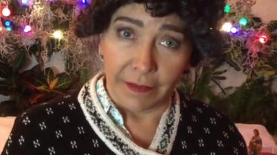 Doña Lucha ya está lista para la navidad y envió un mensaje a sus fans