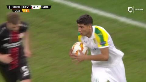 ¡GOOOL! Dimitris Raspas anota para AEK Larnaka