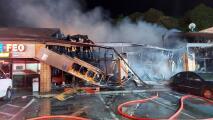 Una taquería de Gwinnett destruida por incendio que afectó a otros dos locales comerciales