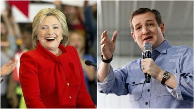 Clinton y Cruz se imponen en Iowa