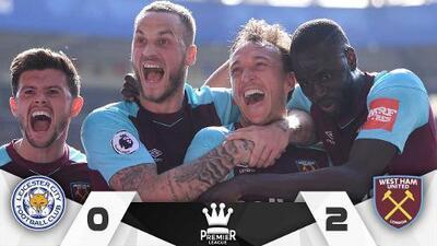 West Ham dio un paso a la salvación, sin 'Chicharito' venció al Leicester