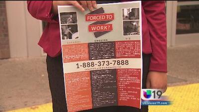Carteles para denunciar el tráfico de humanos