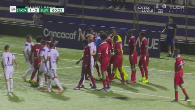 ¡Sueña Nicaragua! Rigoberto Fuentes descontó 1-2 ante Surinam