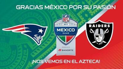 Se agotan en una hora los boletos para el Patriots-Raiders en el Estadio Azteca